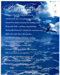 Epic image regarding high flight poem printable